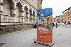 3Näituse-reklaam-Firenze-tänaval